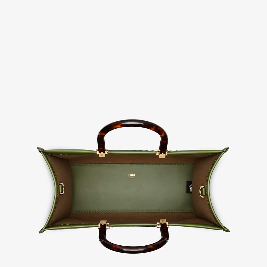 FENDI FENDI SUNSHINE MEDIUM - Green leather bag - view 5 detail