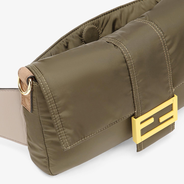 FENDI BAGUETTE - Green nylon bag - view 6 detail