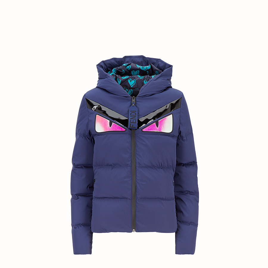 FENDI DOWN JACKET - Blue tech fabric down jacket - view 1 detail