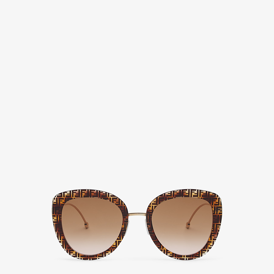 FENDI F IS FENDI - FF Havana acetate and metal sunglasses - view 1 detail