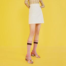 FENDI SLINGBACKS - Multicolor cotton sandals - view 5 thumbnail