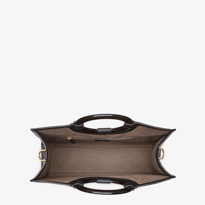 FENDI RUNAWAY SHOPPER - Shopper in brown fabric - view 4 detail