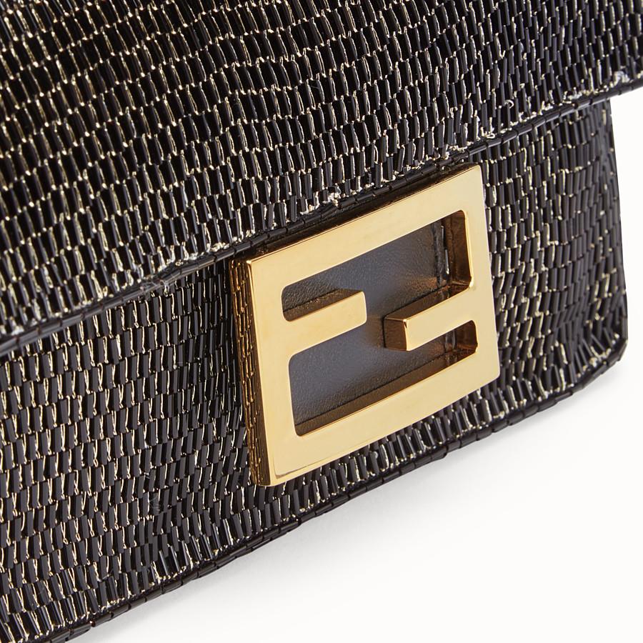 FENDI BAGUETTE - Black leather bag - view 6 detail