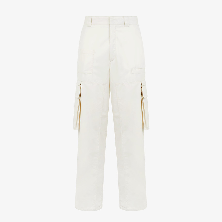 FENDI PANTS - White cotton pants - view 1 detail