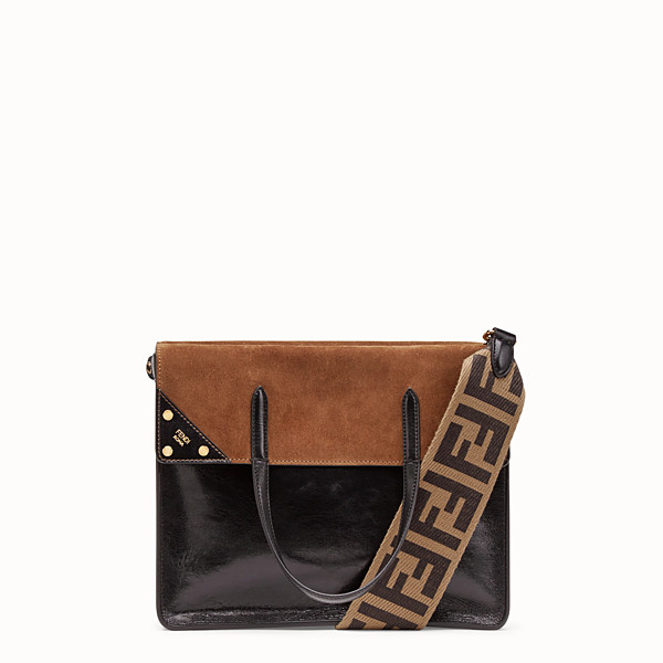 FENDI GRAND FENDI FLIP - Sac en cuir noir - view 1 small thumbnail