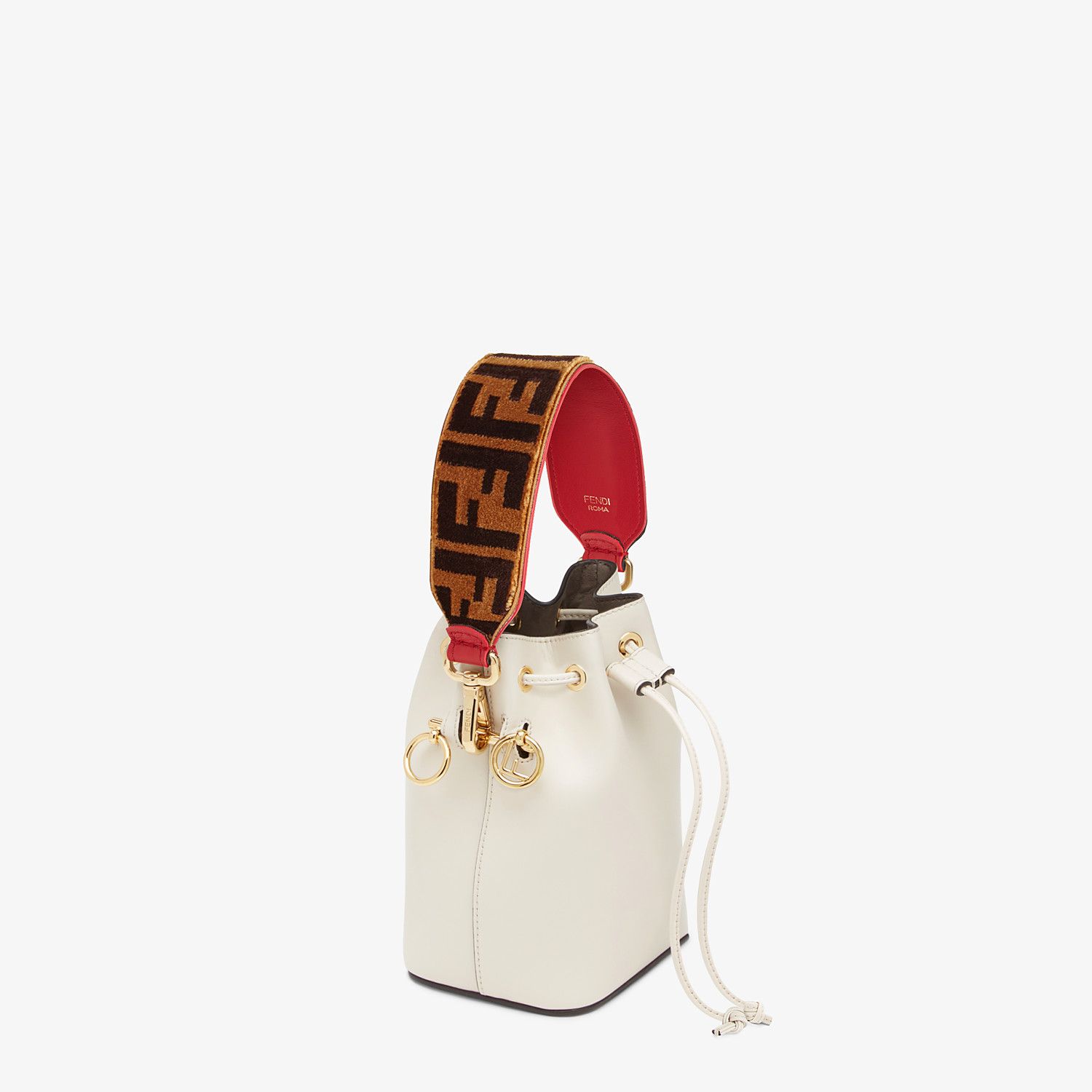FENDI MINI STRAP YOU - Textured-effect leather shoulder strap - view 2 detail