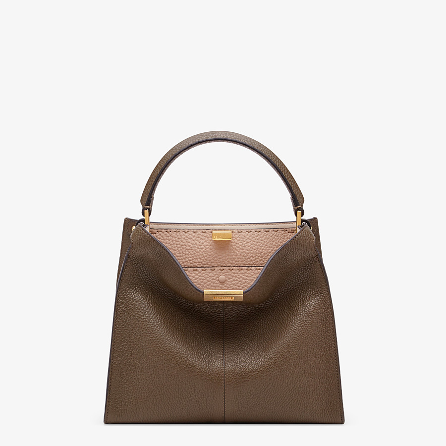 FENDI PEEKABOO X-LITE MEDIUM - Brown Selleria bag - view 2 detail