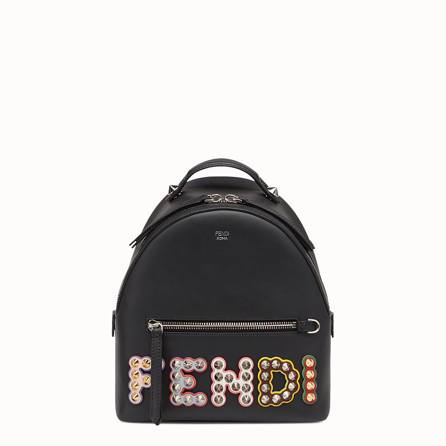 FENDI 迷你款式背包 - 黑色皮革背包 - view 1 detail