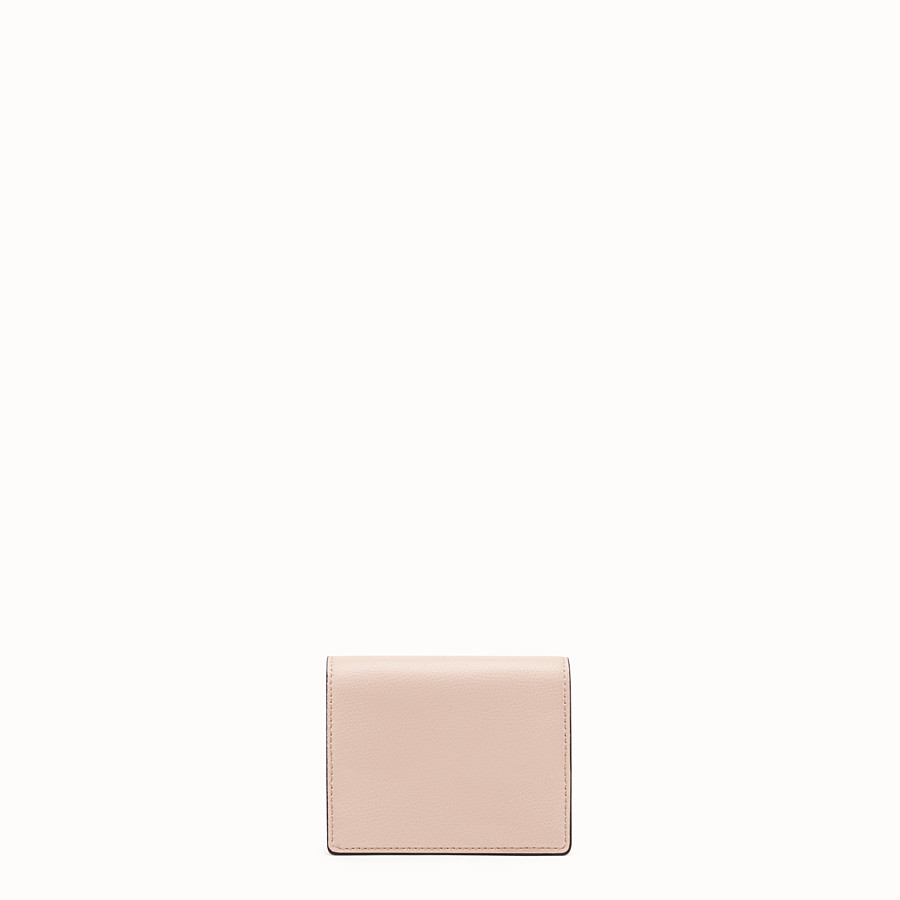 FENDI WALLET ON CHAIN - Pink leather mini-bag - view 3 detail