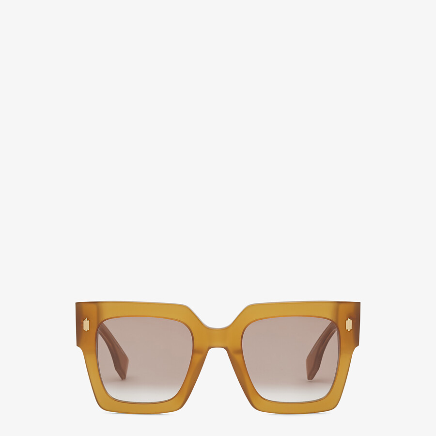 FENDI FENDI ROMA - Honey-colored acetate sunglasses - view 1 detail
