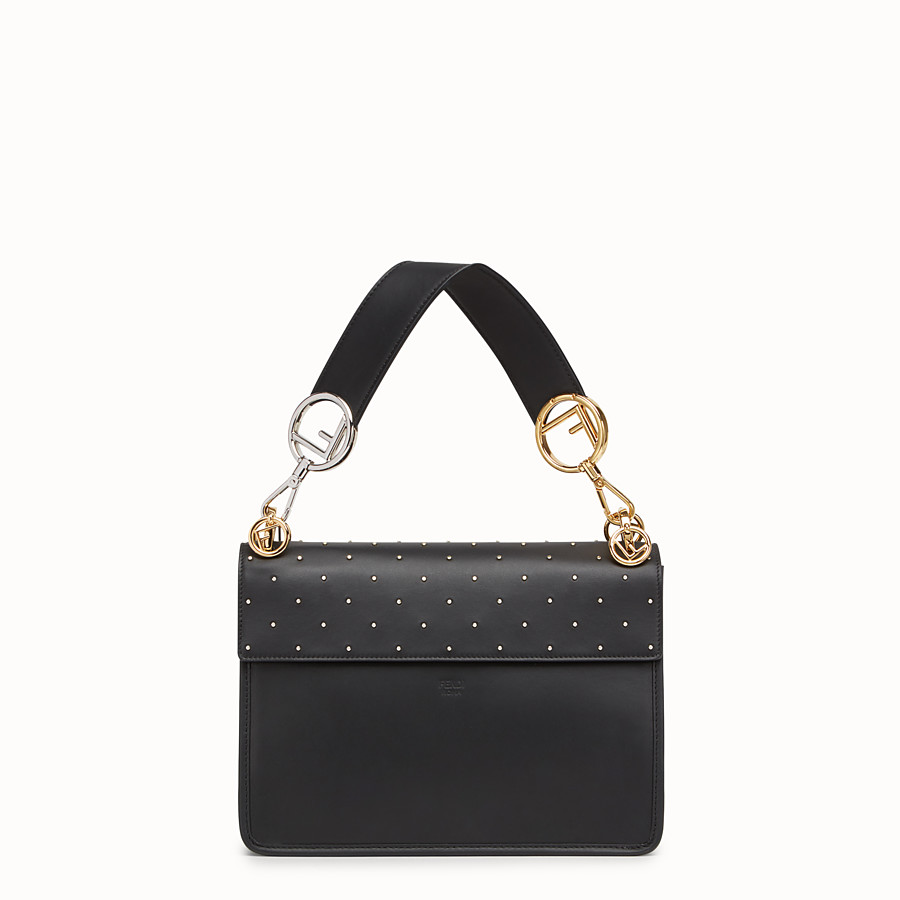 FENDI KAN I F - Black leather bag - view 3 detail
