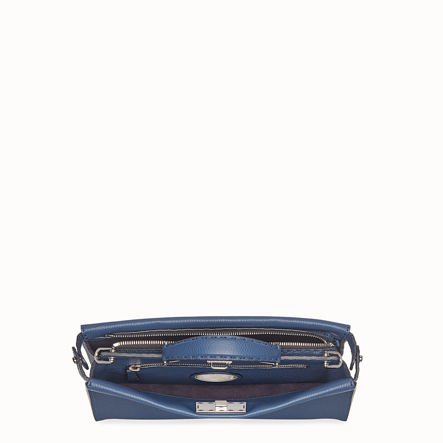 FENDI PEEKABOO FIT - Tasche aus Leder in Blau - view 4 detail