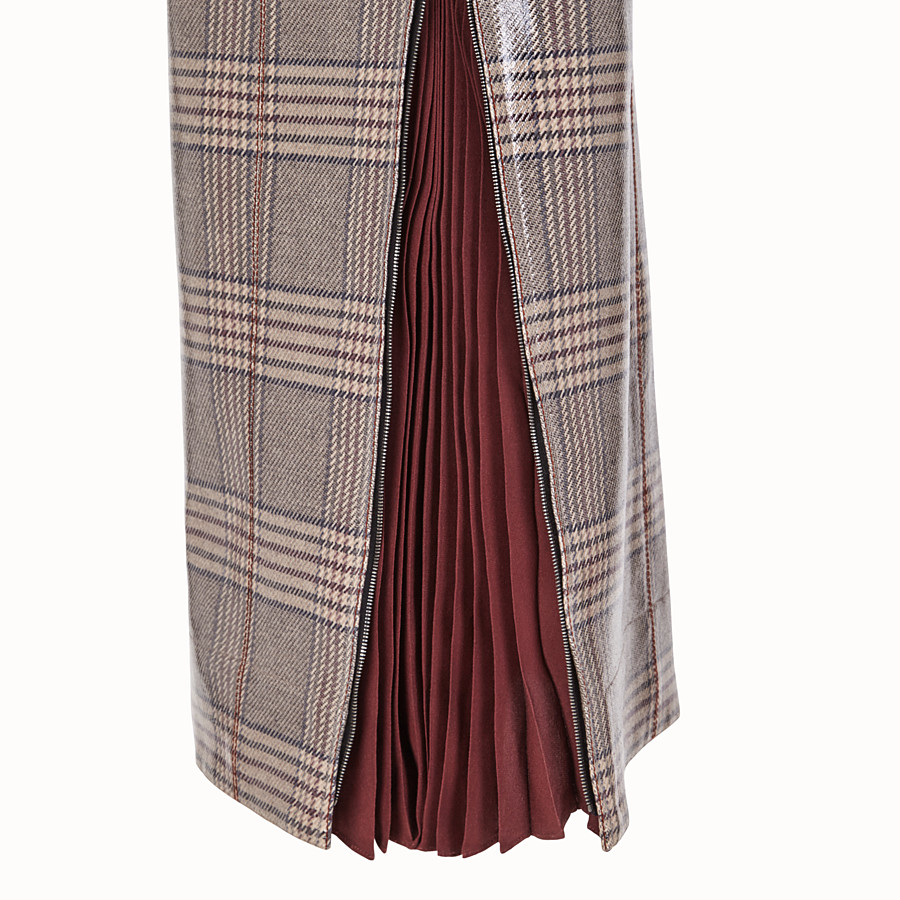FENDI SKIRT - Prince of Wales check wool skirt - view 3 detail