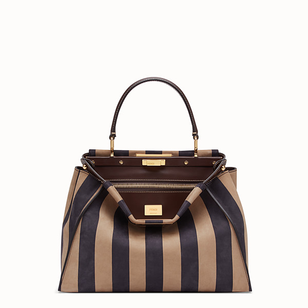 FENDI PEEKABOO ICONIC MEDIUM - Sac en nubuck marron - view 1 small thumbnail