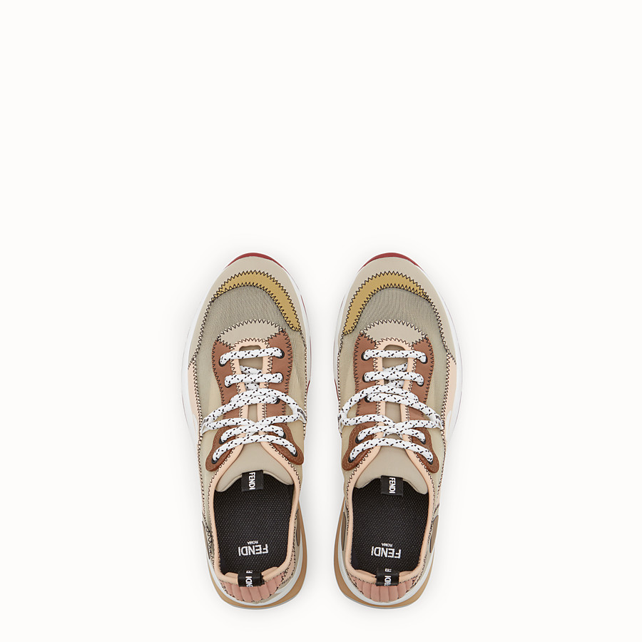 FENDI SNEAKERS - Beige technical mesh sneakers - view 4 detail