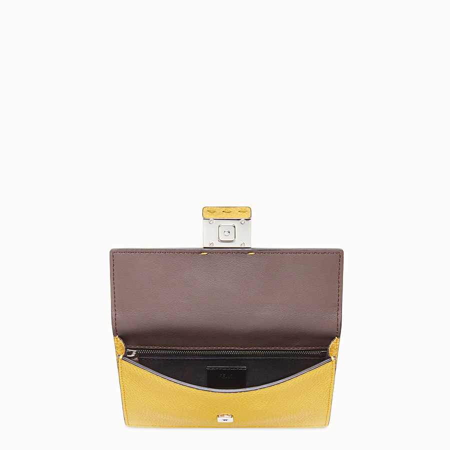FENDI BAGUETTE POUCH - Yellow leather bag - view 4 detail