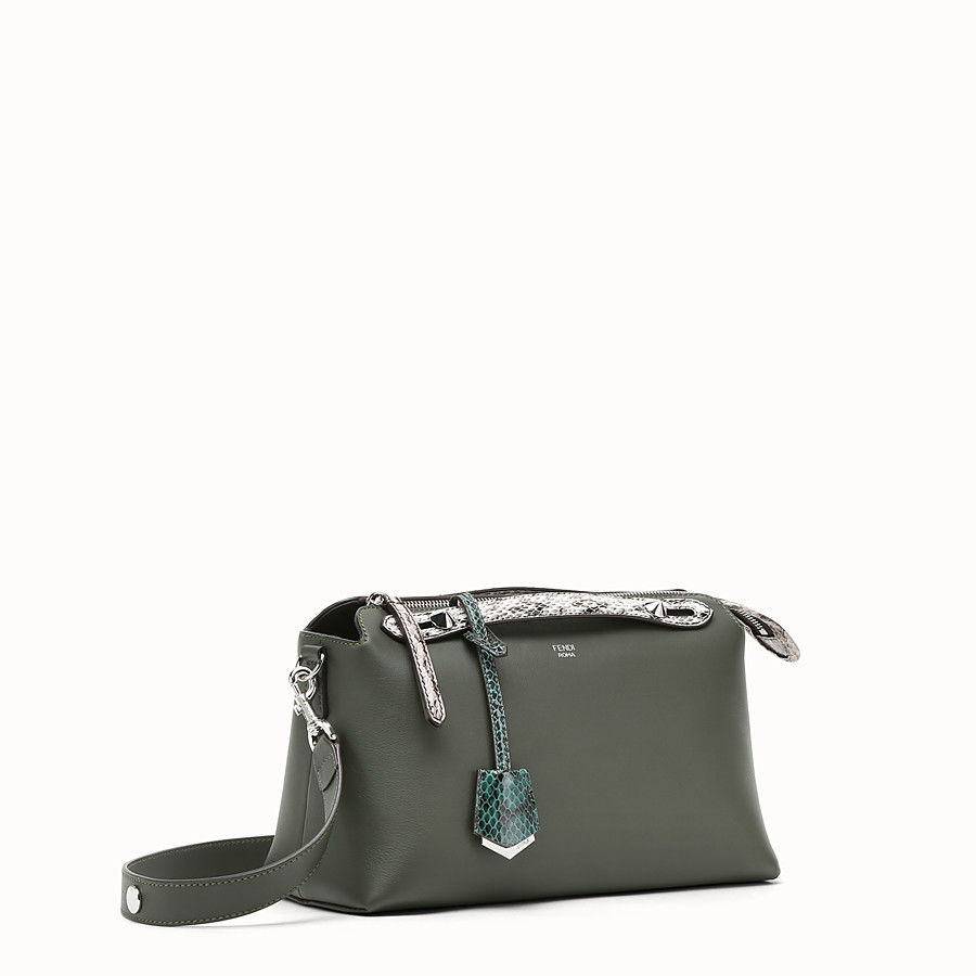 FENDI BY THE WAY REGULAR - Grass green leather Boston bag - view 2 detail