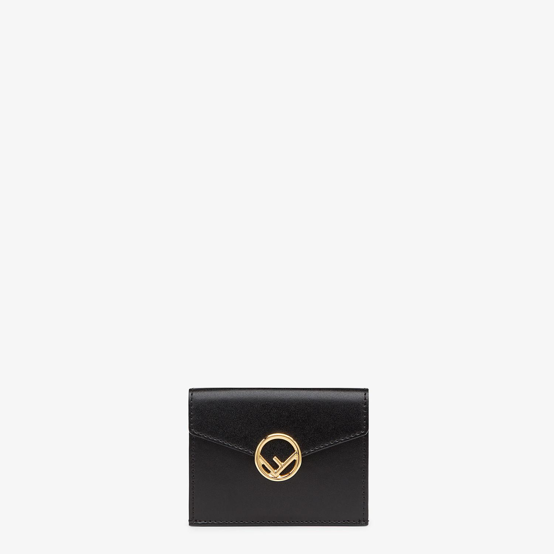 FENDI MICRO TRIFOLD - Black leather wallet - view 1 detail