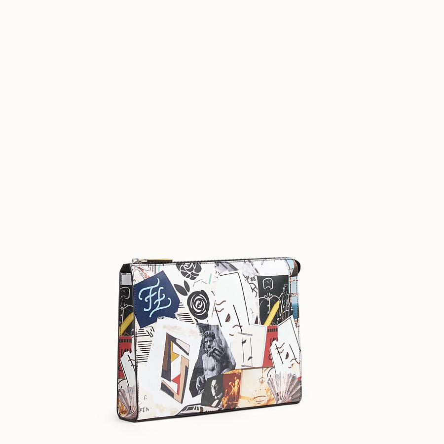 FENDI POCHETTE - Pochette en cuir multicolore - view 2 detail