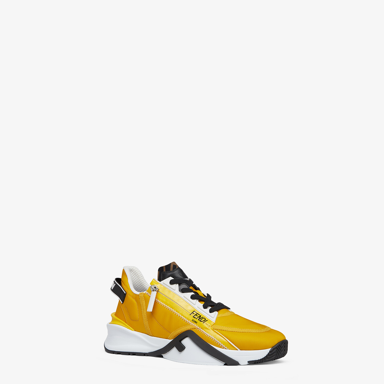 FENDI SNEAKERS - Yellow nylon low tops - view 2 detail