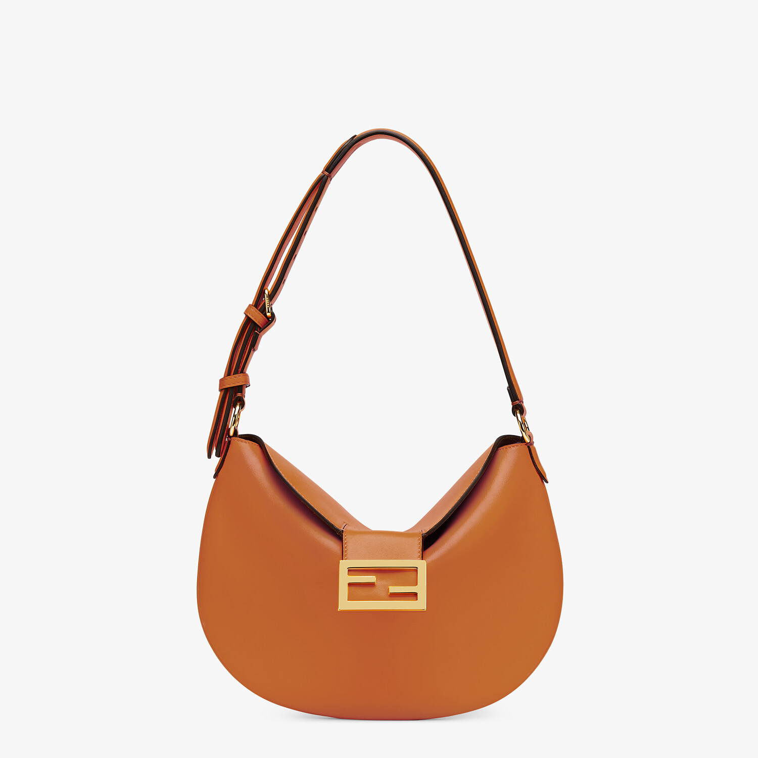 FENDI SMALL CROISSANT -  Brown leather bag - view 1 detail