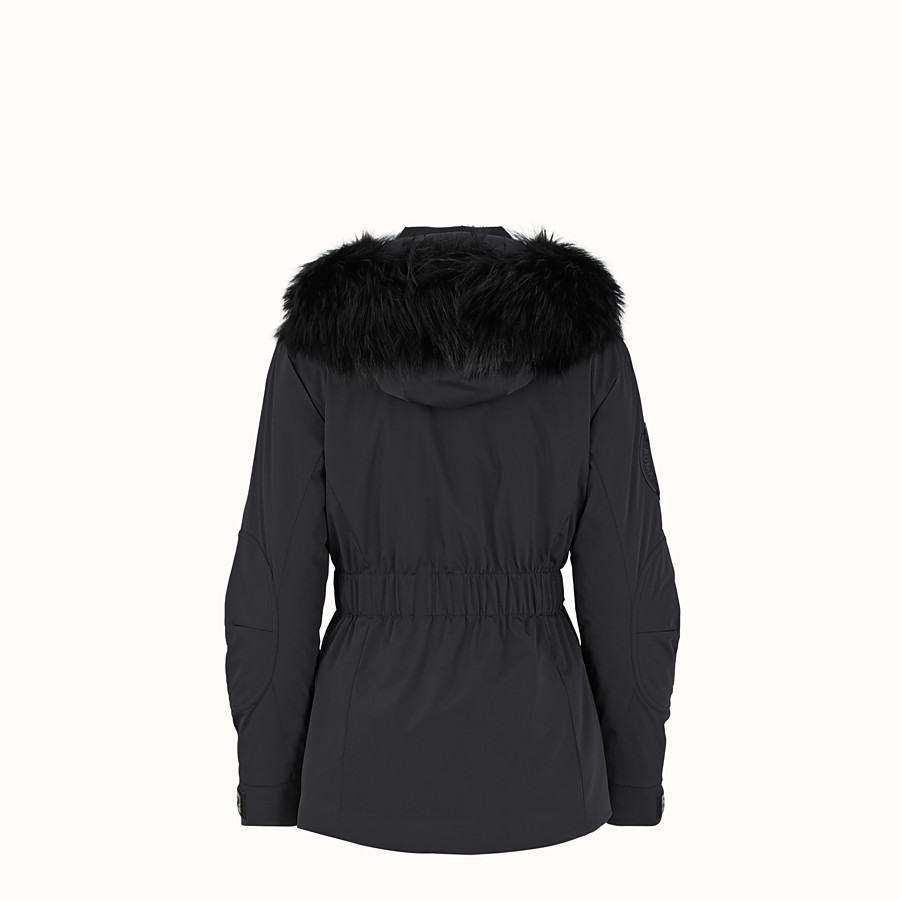 FENDI SKI JACKET - Black tech fabric down jacket - view 2 detail