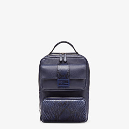 FENDI BACKPACK - Blue calf leather backpack - view 1 thumbnail