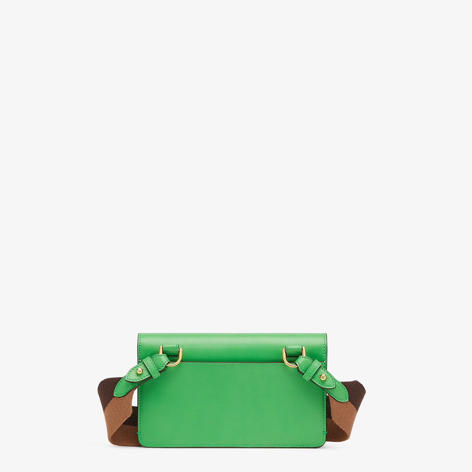 FENDI FLAT BAGUETTE - Green leather mini bag - view 4 detail