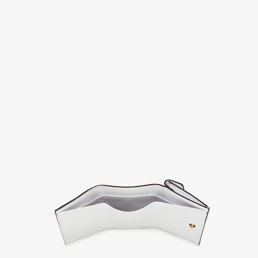 FENDI MICRO TRIFOLD - White leather wallet - view 5 detail