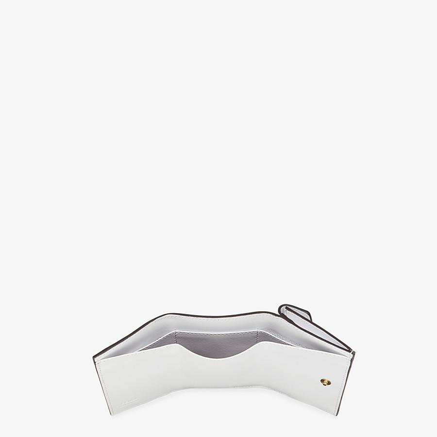 FENDI MICRO TRIFOLD - White leather wallet - view 5 detail