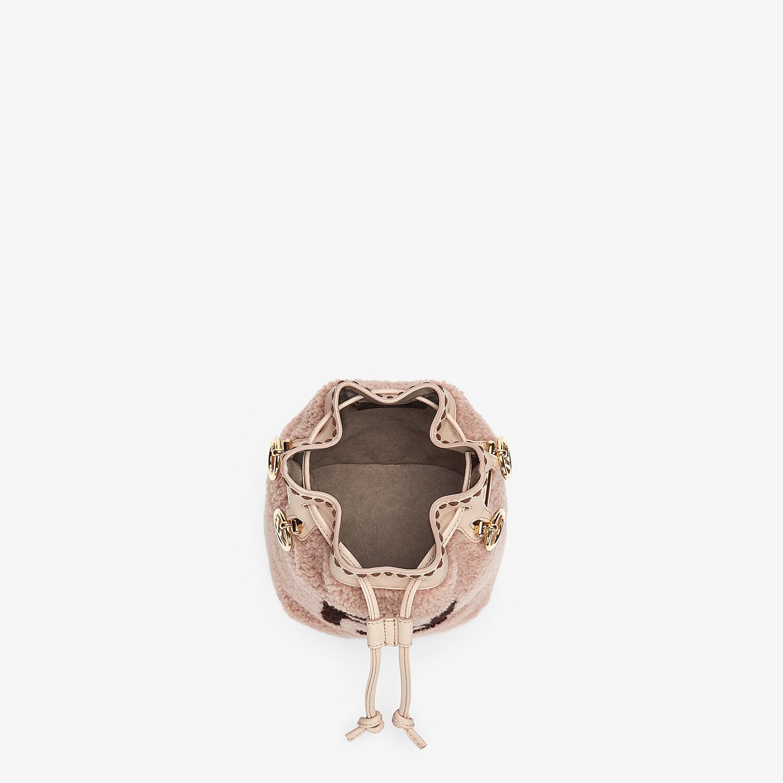FENDI MON TRESOR - Pink sheepskin mini-bag - view 4 detail