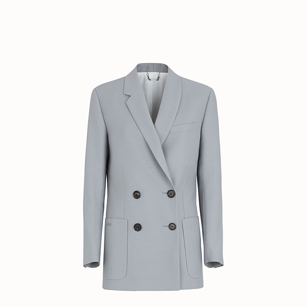 FENDI JACKET - Gray wool jacket - view 1 small thumbnail