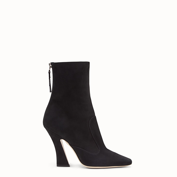 FENDI ANKLE BOOTS - Black nubuck booties - view 1 small thumbnail