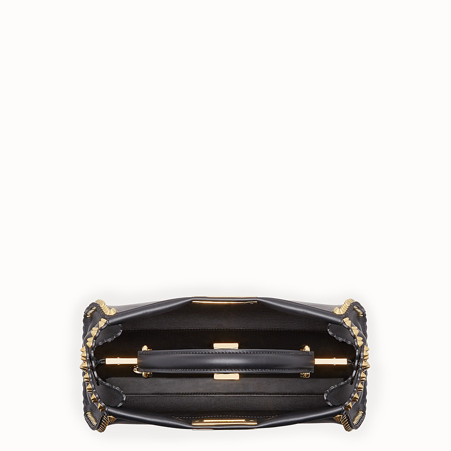 FENDI PEEKABOO REGULAR - Sac en cuir noir - view 4 detail