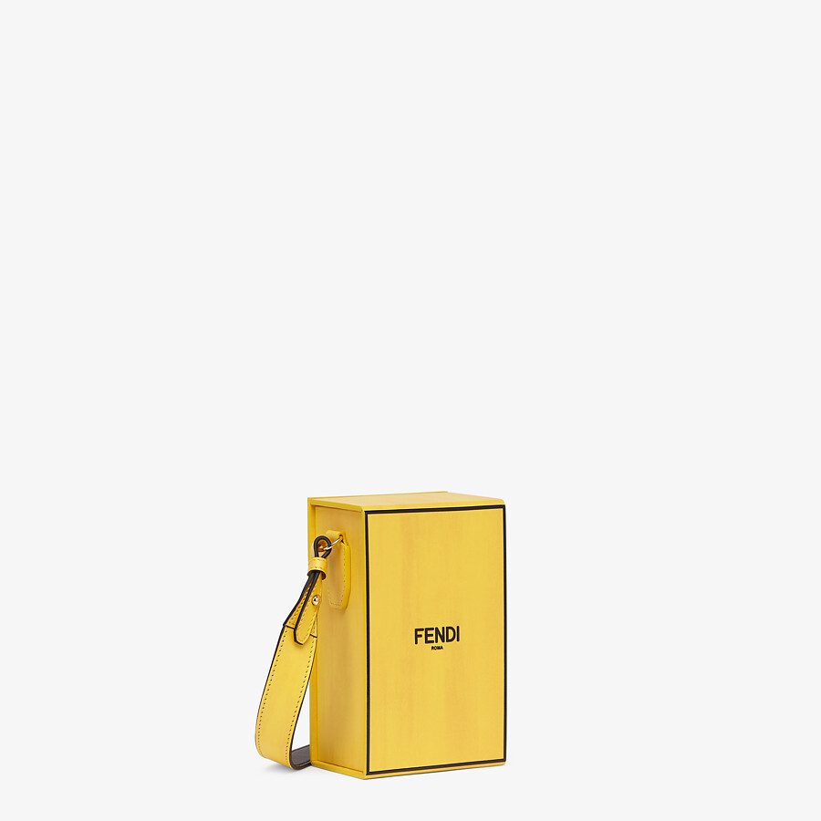 FENDI VERTICAL BOX - Yellow leather bag - view 2 detail