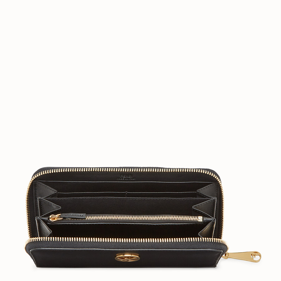 FENDI ZIP-AROUND - Black leather wallet - view 4 detail