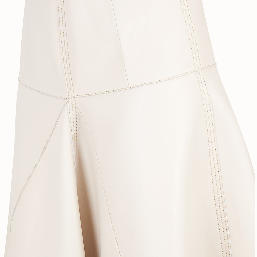 FENDI SKIRT - Pink nappa skirt - view 3 detail