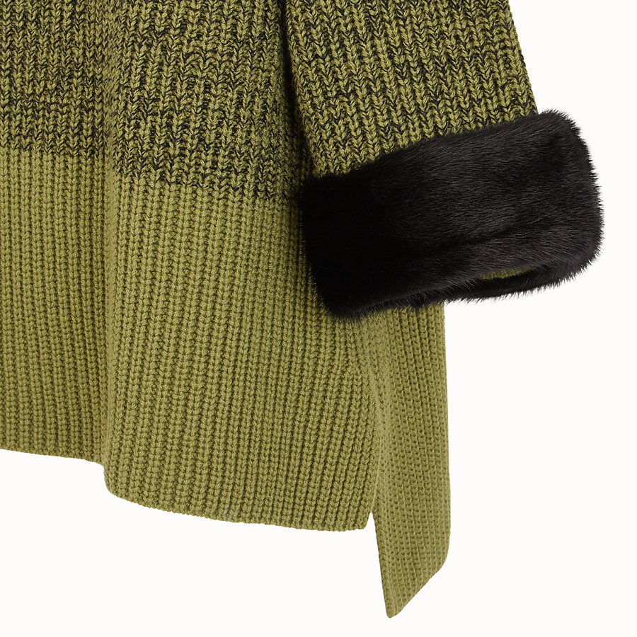 FENDI JUMPER - Green wool jumper - view 3 detail
