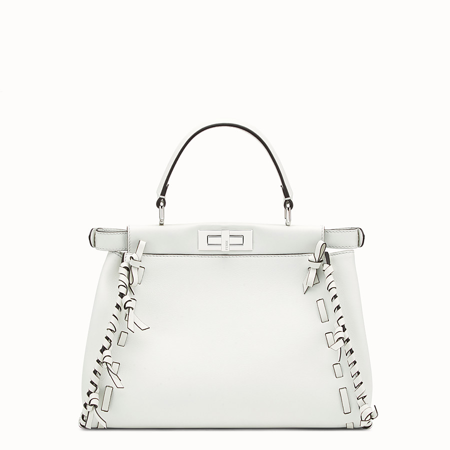 FENDI PEEKABOO REGULAR - White leather bag - view 3 detail