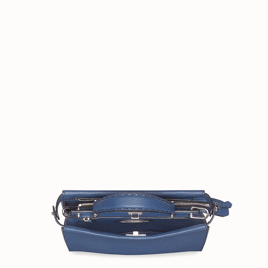 FENDI MINI PEEKABOO FIT - Blue leather bag - view 4 detail