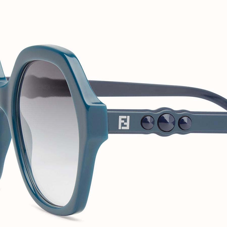 FENDI FUN FAIR - Green sunglasses - view 3 detail