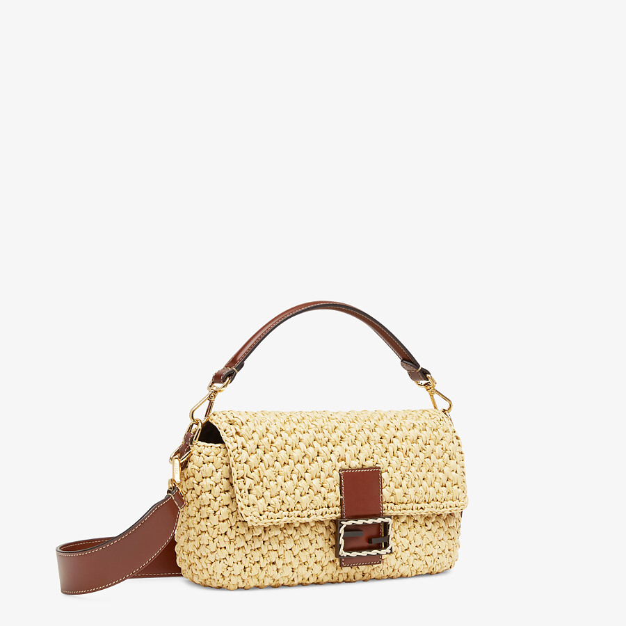 FENDI BAGUETTE - Woven straw bag - view 2 detail