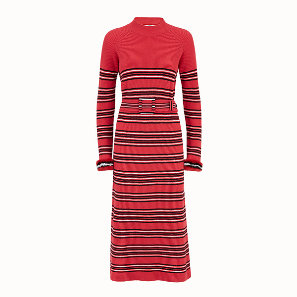 FENDI DRESS - Multicolour wool and cashmere dress - view 1 small thumbnail