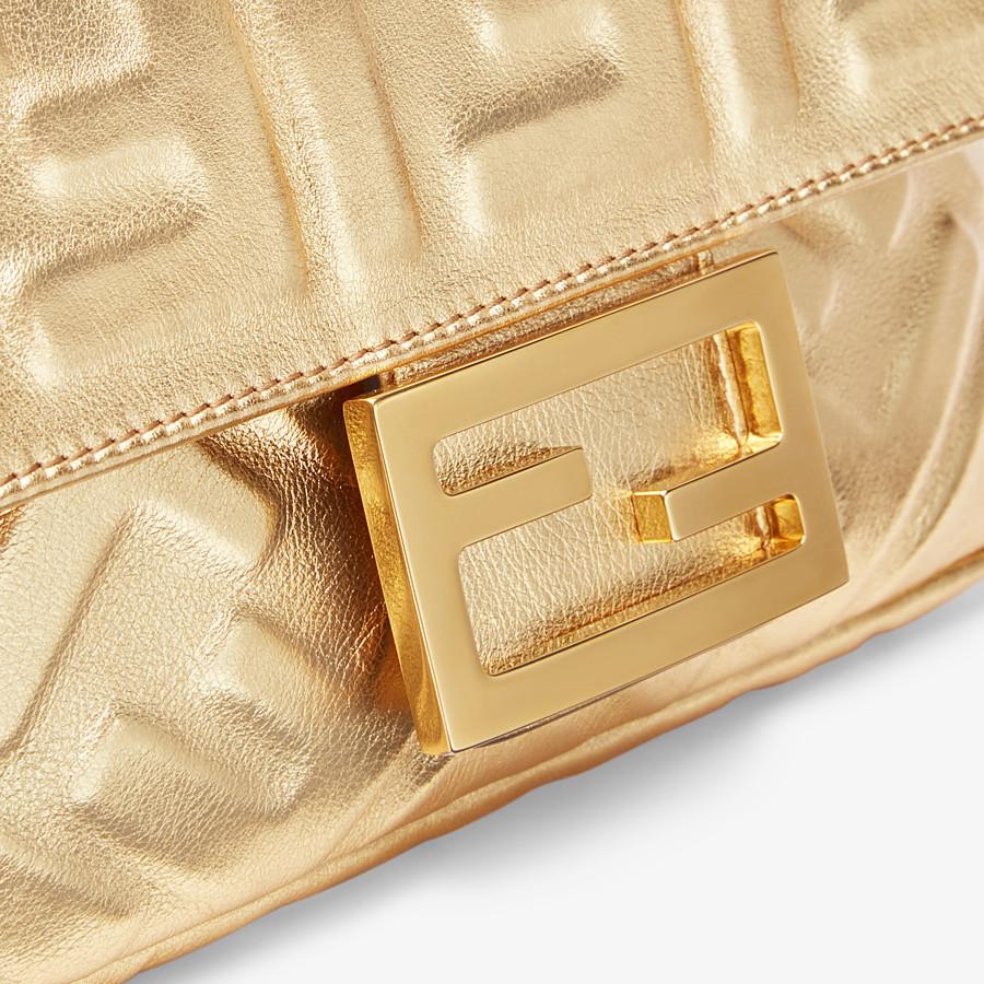 FENDI BAGUETTE MINI - Golden leather bag - view 5 detail