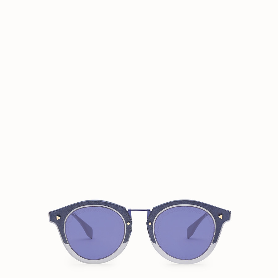 FENDI FF - Blue and gold sunglasses - view 1 detail