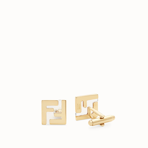 FENDI CUFFLINKS - Gold-coloured cufflinks - view 1 small thumbnail