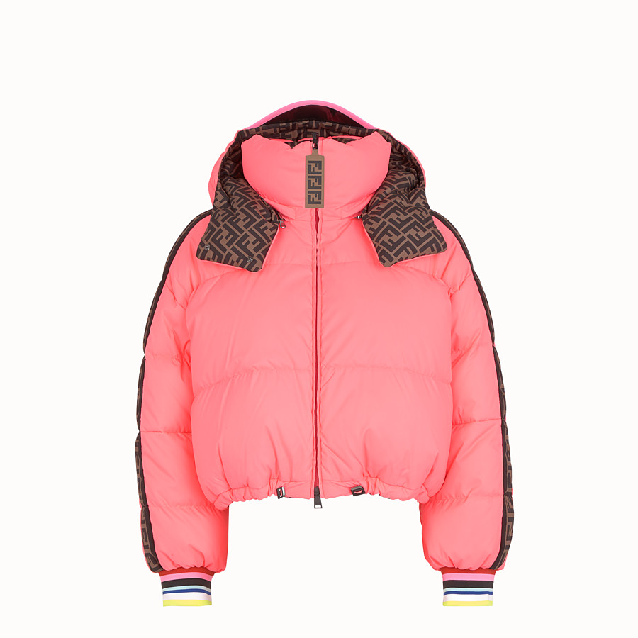 FENDI JACKET - Fendi Roma Amor nylon down jacket - view 5 detail