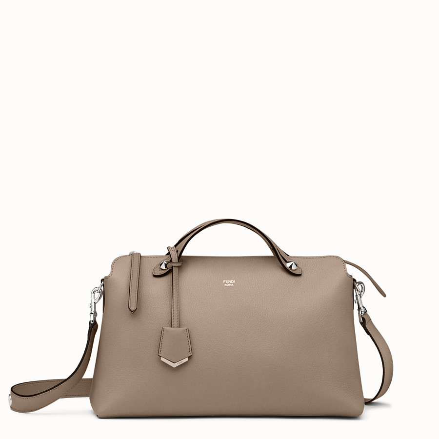 FENDI LARGE BY THE WAY - Boston bag in beige leather - view 1 detail