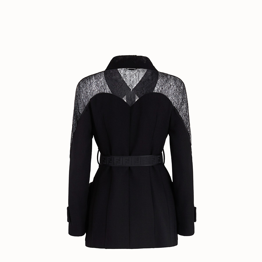 FENDI JACKET - Black wool jacket - view 2 detail