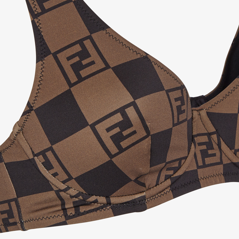 FENDI BIKINI - Brown Lycra® bikini - view 3 detail